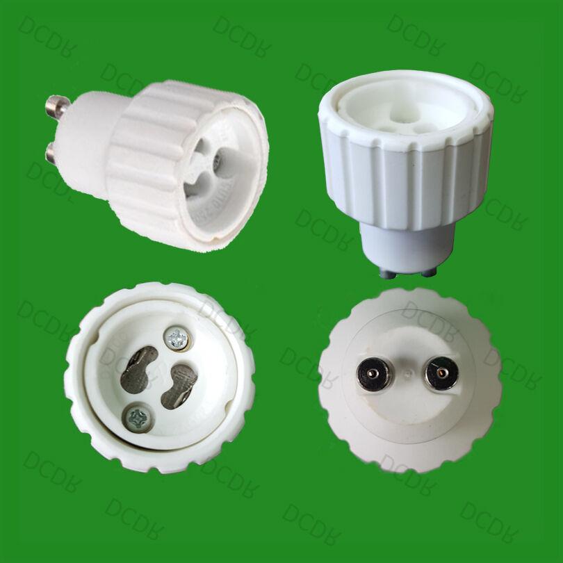 100x GU10 pour GU10 Ampoule Lampe support Lumière Adaptateur Convertisseurs support Lampe b10f49