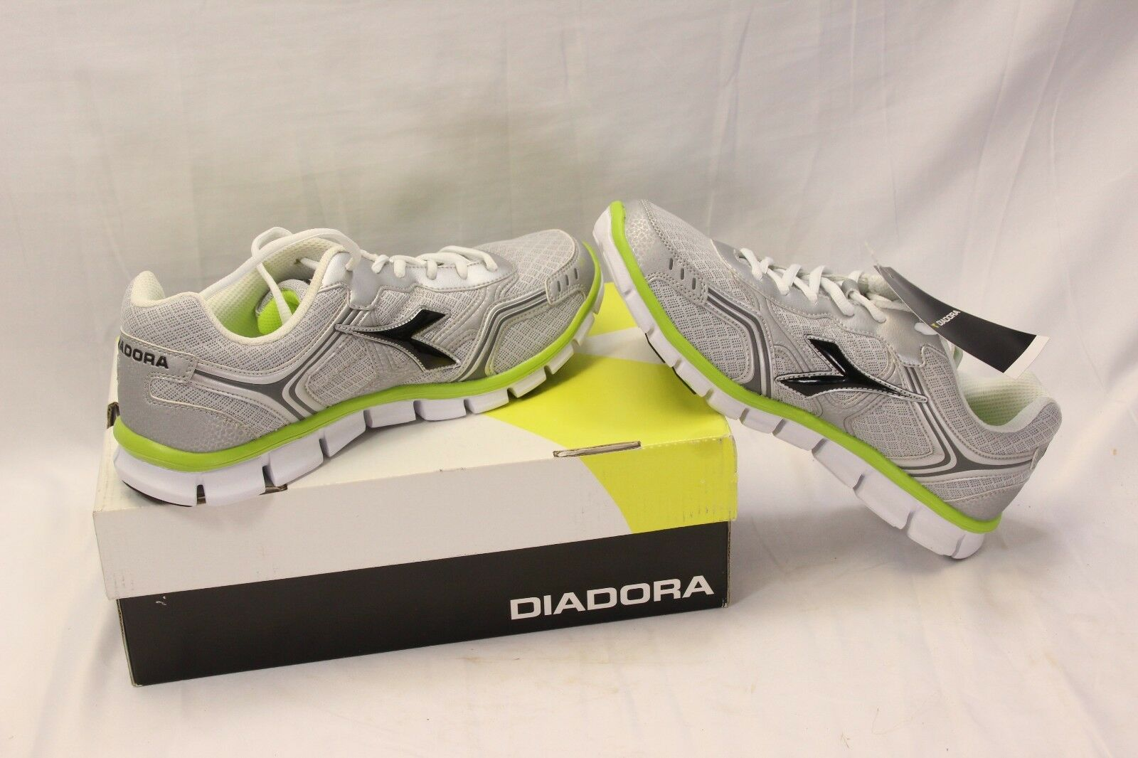 Diadora Dinamik II Running Shoes 9.5 Womens Gray Green Black