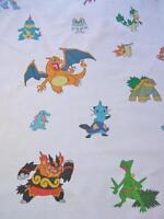 Pokemon Japanese Characters Comic Cartoon Robert Kaufman Fabric Yard