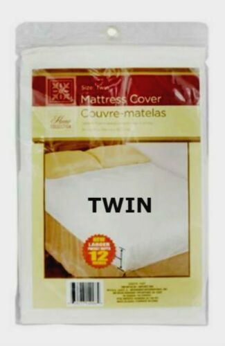 Home Collection Plastic Mattress Protector Lightweight Cover TWIN//Full//QUEEN NEW