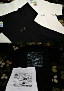 KAWS-SESAME-STREET-X-UNIQLO-White-Black-Pocket-Tee-T-shirt-XS-S-M-L-XL-Genuine