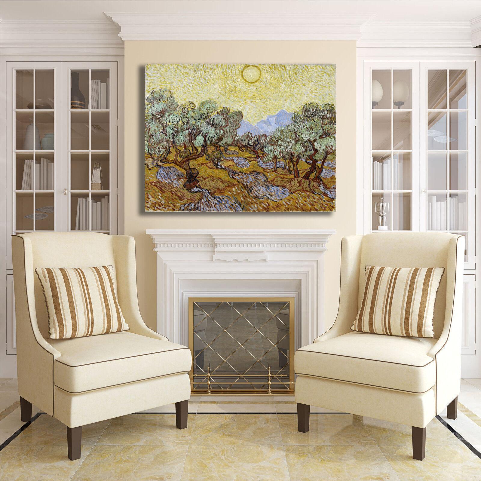 Van Gogh alberi di olive design quadro stampa tela tela stampa dipinto telaio arRouge o casa 83067c