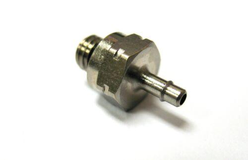 "1pc Nickel Plated Brass Fitting 1//16/"" ID Hose Barb x M5 MettleAir 125NP-1M5-SB"