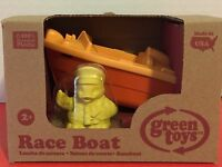 Green Toys Orange Race Boat Yellow Duck 100% Recycled Plastic Gift