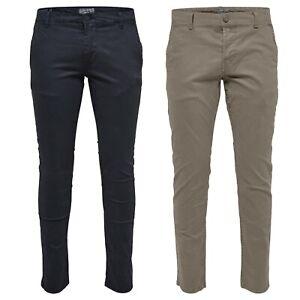 ONLY-amp-SONS-Pantaloni-Chino-Da-Uomo-Regular-Fit-Cotone-Stretch-Jeans-Pantaloni-da-Casual