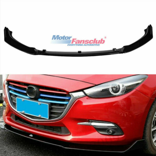 ABS Glossy Black Front Bumper Lip Protector Cover For Mazda 3 Axela 2014-2018