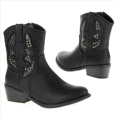 6c61cb22d7c8 NEU Damen Stiefeletten Westernstiefel Boots Cowboystiefeletten schwarz Gr.  36-41