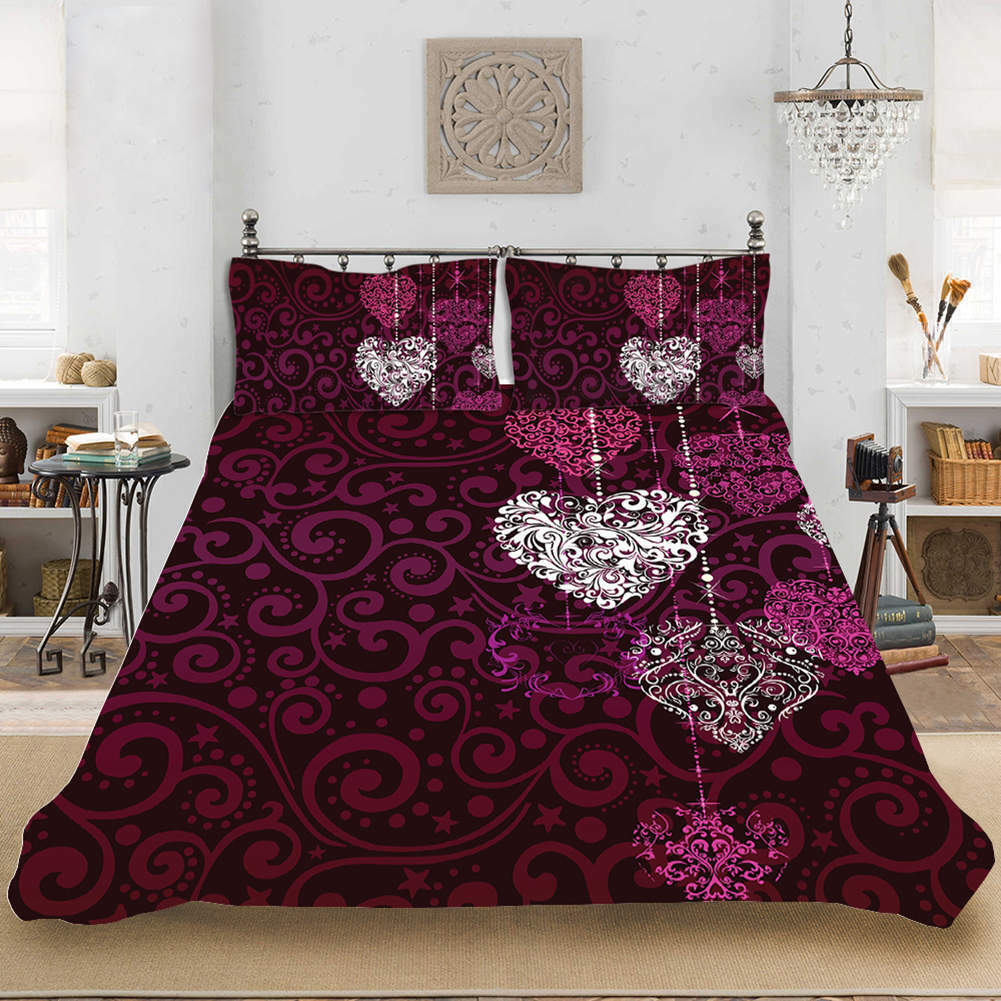 Beautiful Silent 3D Quilt Duvet Doona Cover Set Single Double Queen King Print