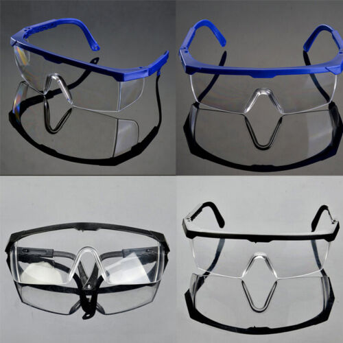 Actual Safety Eye Protection Clear Lens Goggles  Glasses From Lab Dust Paint .*