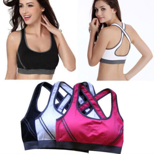 Ladies Women Padded Sports Bra Top Vest Gym Fitness Ladies Yoga Running Jogging