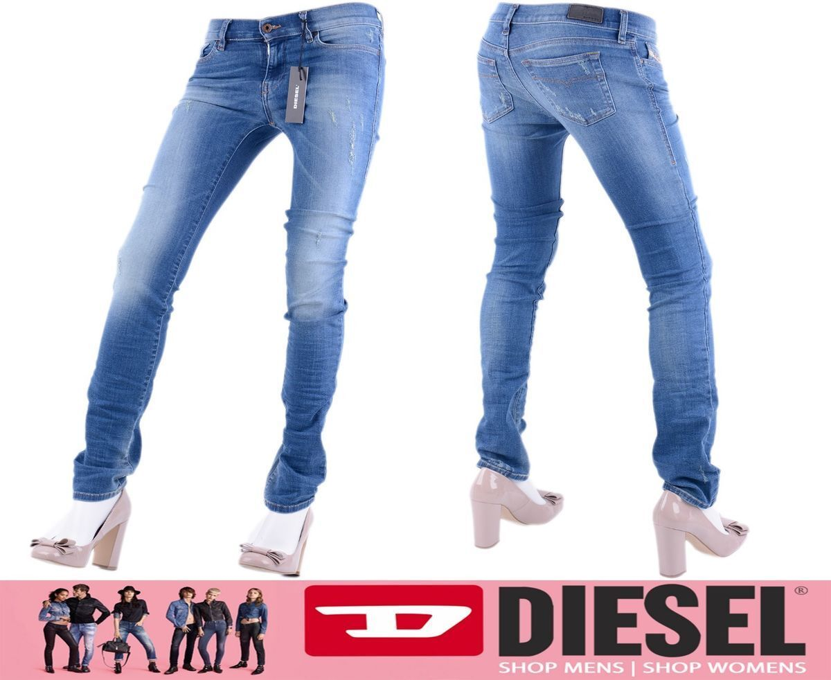 DIESEL Straitzee RF608 W25 W26 L30 L32 DONNA JEANS DENIM DRITTO REGULAR SLIM
