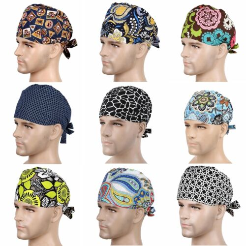 New 9 Kinds Men Doctor//Nurses Printing Scrub Cap Medical Surgical Surgery Hat