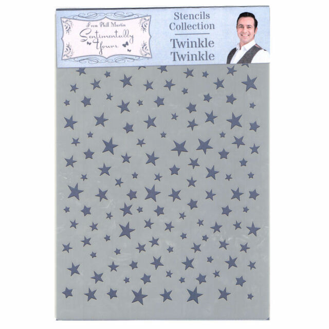 Phill Martin Sentimentally Yours Festive Collection Twinkle Twinkle Stencil