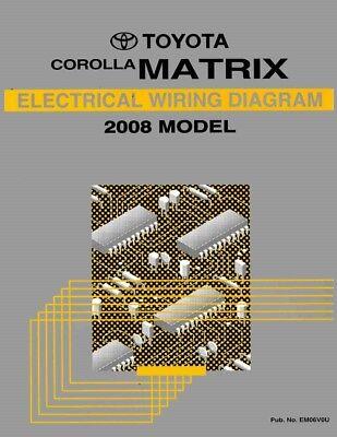 2009 Toyota Corolla Matrix Wiring Diagrams Schematics Layout Factory OEM