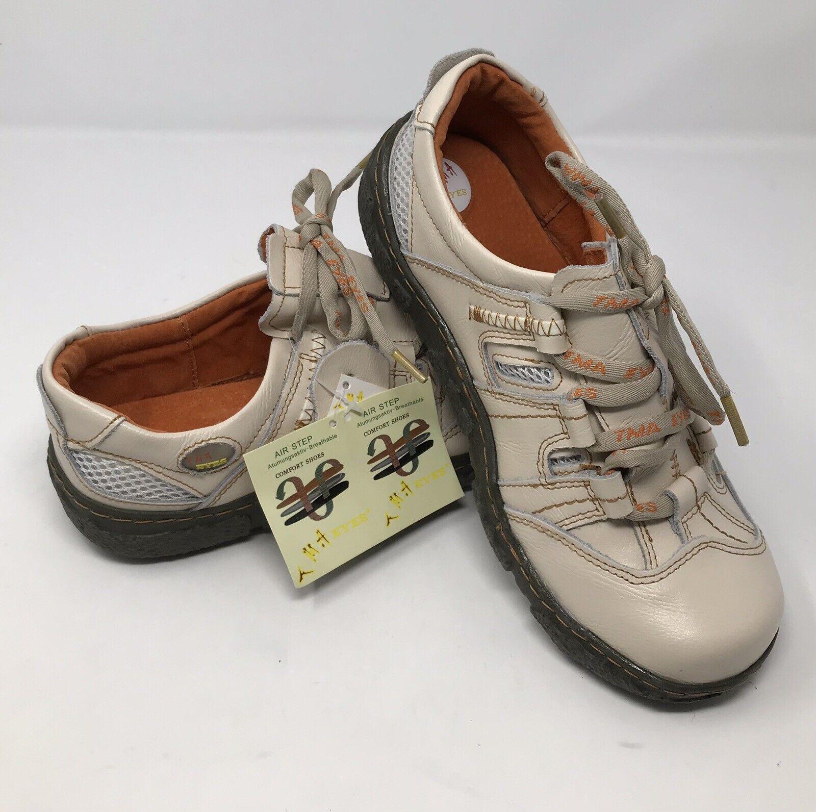 TMA Eyes Leather Sneakers Womens Size EU 40 US 8.5 Germany Leather Upper Walking