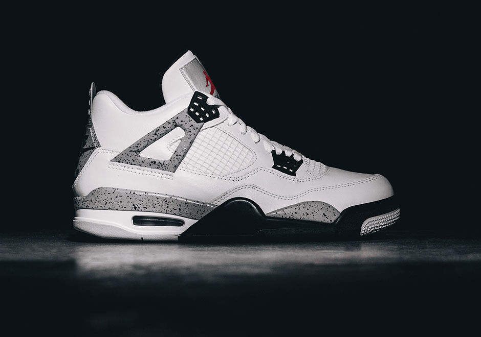 Nike AIR JORDAN 4 IV RETRO OG 840606-192 WHITE CEMENT FIRE RED BLACK Price reduction Cheap women's shoes women's shoes