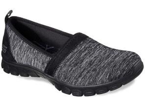 64cc3213a350 Skechers Women s EZ Flex 3.0 Swift Motion Black Slip On Shoes-7.5 8 ...