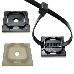 Cable-Ties-Bases-Self-Adhesive-4-Way-Mounts-for-cable-Tie-Fast-Tidy-up-Cables