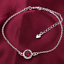 miniature 80 - 925 Sterling Silver Plated Anklet Ankle Bracelet Crystal Foot Chain Ladies CZ UK