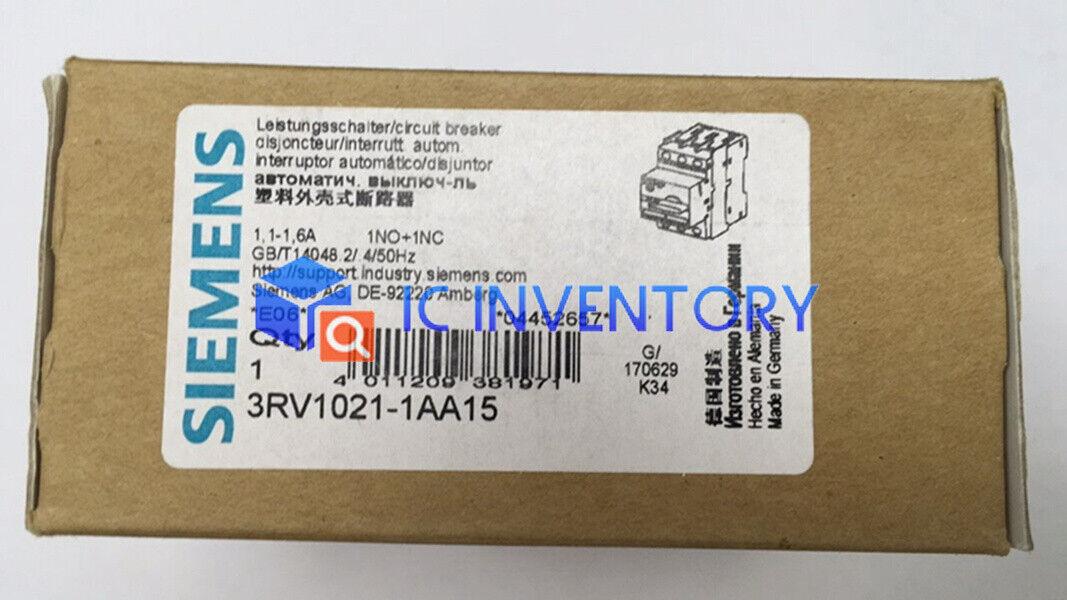 Brand NEW Siemens Circuit Breaker 3RV1021-1AA15 1.1-1.6A