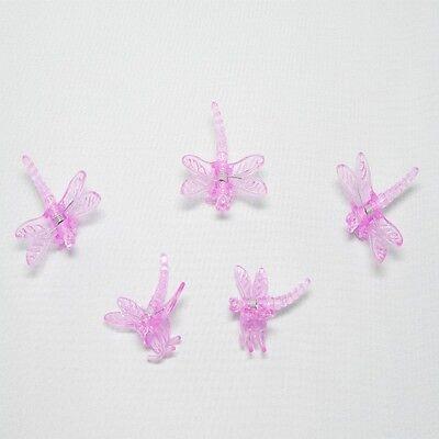 5 Orchideen Clips Klammern Libelle Pink Orchideenklammer