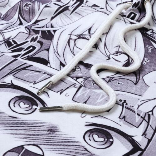 Ahegao Funny Emoji Face Anime Art 3D Print Women Men Pullover Hoodie Jumper Tops