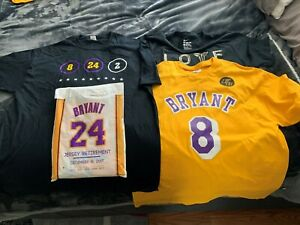 Details about KOBE BRYANT LIMITED EDITION FINAL GAME JERSEY RETIREMENT T-SHIRT COLLECTION RARE