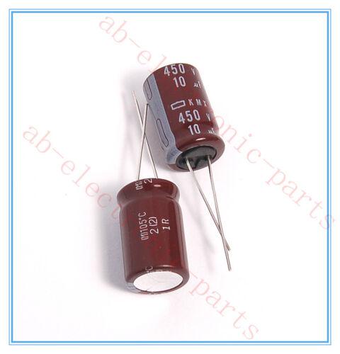 10UF 450V NCC RADIAL ELECTROLYTIC CAPACITOR.12.5X20MM.KMX 450V10UF 2PCS
