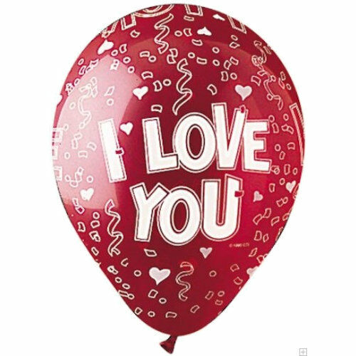 """11/"""" Red I Love You Latex Balloon Party Decoration Decorator Wedding 10 pc"""