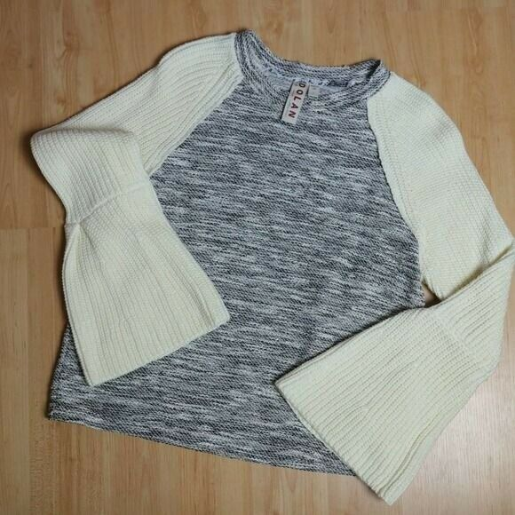 Dolan Textured Knit Bell Sleeve Sweater Sz S - image 3