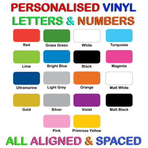 Custom Self adhesive Vinyl Lettering Letters for pre-spaced Words /& Signs