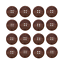 crochet Personnalisé 20 mm en bois noyer boutons pour Handmade produits couture