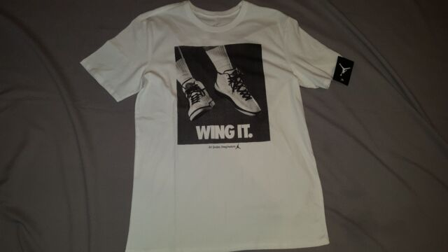 09bdb749210d1a NIKE AIR JORDAN WING IT MENS WHITE TEE T-SHIRT 725017 100 LARGE NEW WITH
