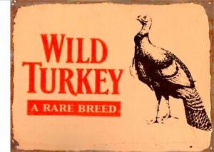 Wild-Turkey-A-Rare-Breed-tin-metal-sign-MAN-CAVE-brand-new