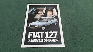 1982-FIAT-127-SPECIAL-SUPER-inc-5-DOOR-SPORT-FRENCH-FOLDER-BROCHURE