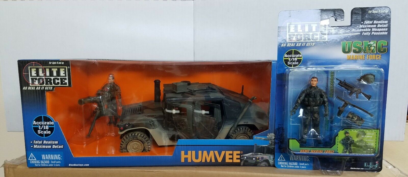 Elite Force Humvee 1 18 Scale With Additional Figure USMC Rifleman 1 18 Scale