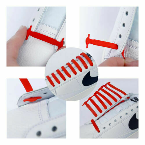 Elastic-No-Tie-Shoe-Laces-Silicone-Shoelaces-For-Adults-amp-Kids-Trainers-Shoes
