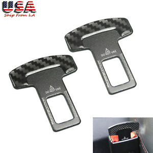 2pcs //  M Chrome Metal Seat Belt Buckle Safety Alarm Clasp Stopper Eliminator