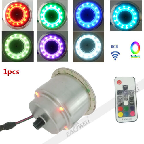 RGB 14 LED Stainless Steel Cup Drink Holder w//Remote For Drain Marine Boat Truck