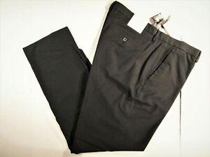 Calvin Klein Para Hombre Pantalones De Vestir Talla 36x32 Slim Fit Plano Frontal Ebay