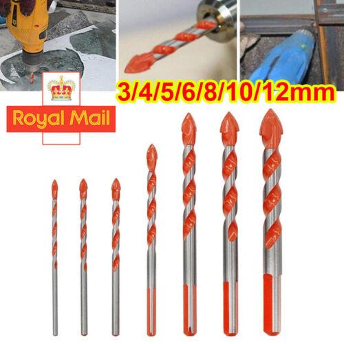 5//7Pcs Multifunctional Drill Bits Ceramic Wall Glass Punching Hole Working Set