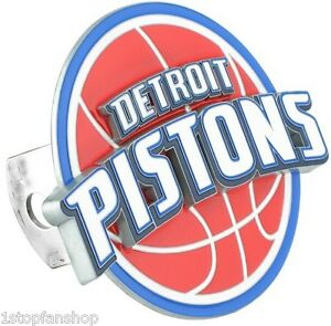 Detroit pistons 3d logo hitch cover cap plug nba licensed for Motor city towing detroit