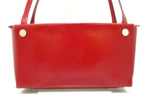 Auth HERMES Bag In Box Red Box Calf Square G Shoul