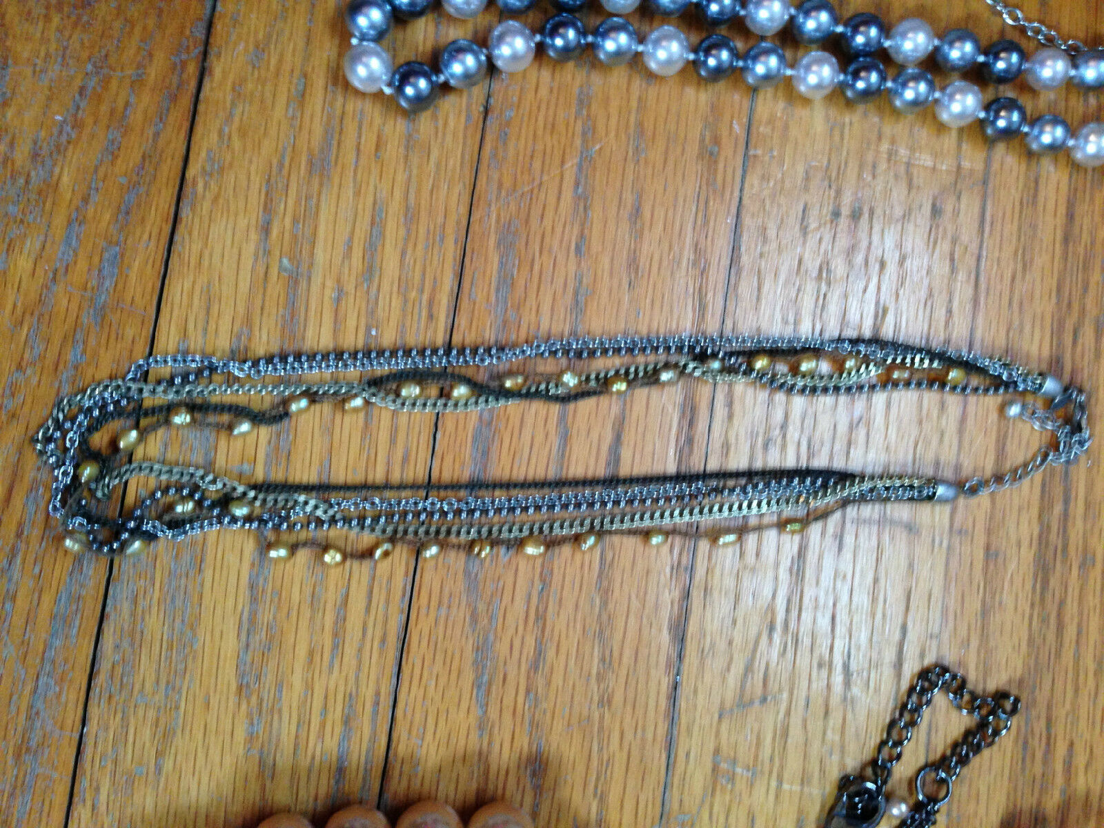 Costume Jewelry Lot Mixture of necklaces, and bra… - image 6