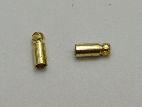 100 Gold Tone End Bead Caps for 2.0 mm Cordon Cuir Bijoux Finding