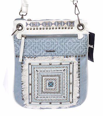 DESIGUAL sac BOLS BANDOLERA WHITNEY 74X9JN6 coloris 5002 jeans et dentelles   eBay