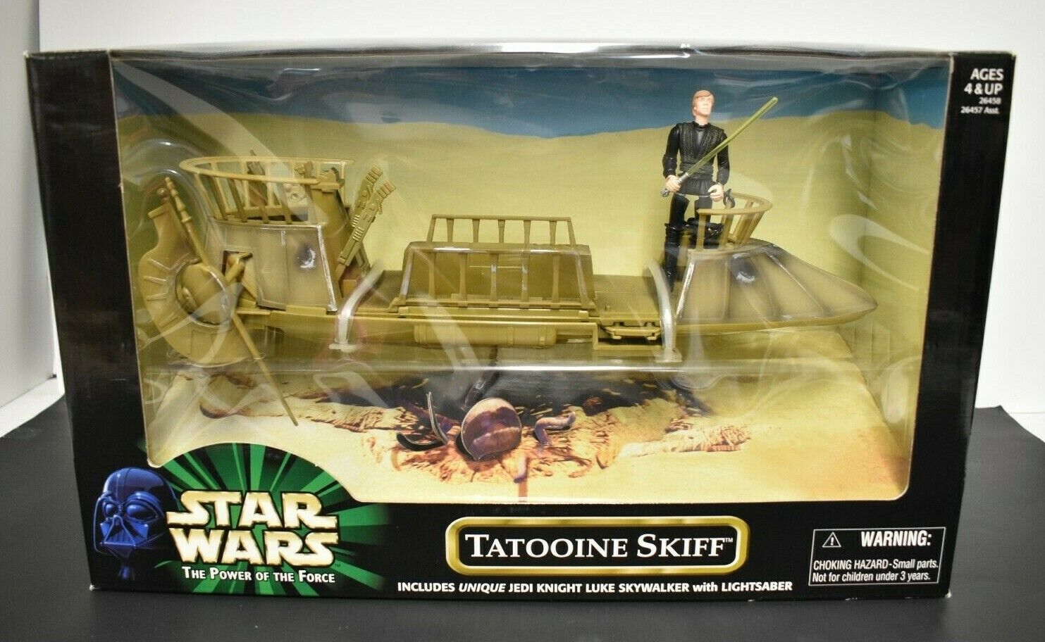 stjärnornas krig Power of the Force Tatooine Skiff 26458, förseglad Hasbro 1999