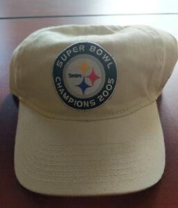 New-PITTSBURGH-STEELERS-2005-Super-Bowl-Champions-Slouch-Cap-Hat-One-Size