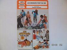 CARTE FICHE CINEMA 1979 LES BRONZES FONT DU SKI Gerard Jugnot Christian Clavier