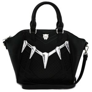 e4810300b0f Image is loading Loungefly-Marvel-Comics-Black-Panther-Cosplay-Crossbody- Tote-